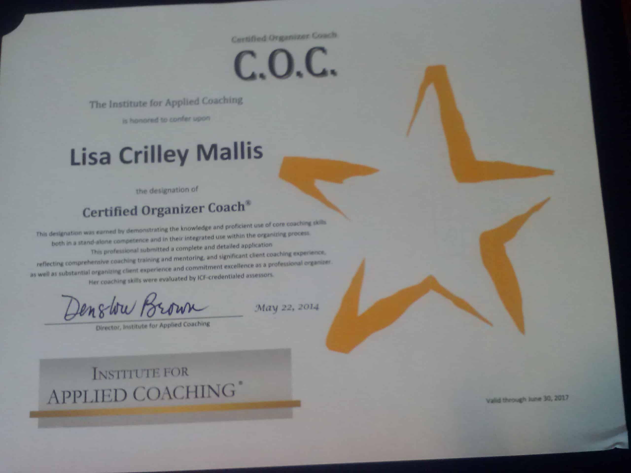 Lisa Crilley Mallis, COC