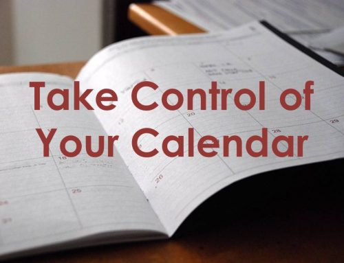 Take Control of Your Calendar with 4 Ds