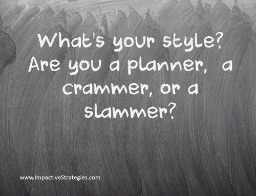Are You a Planner or a Crammer?