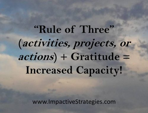 What Do the Rule of 3 and Gratitude Have in Common?