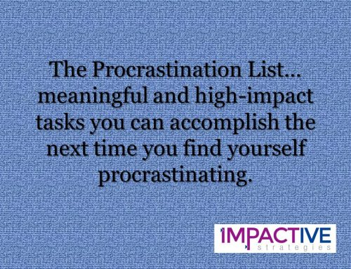 A List for Everything – Even Procrastination!